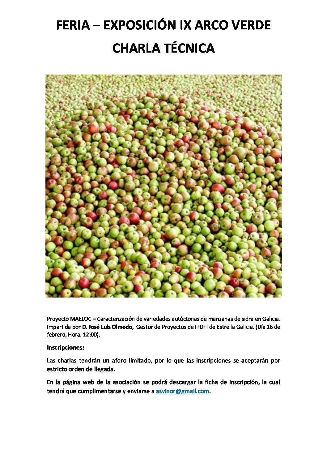 Proyecto MAELOC – Caracterización de variedades autóctonas de manzanas de sidra en Galicia.