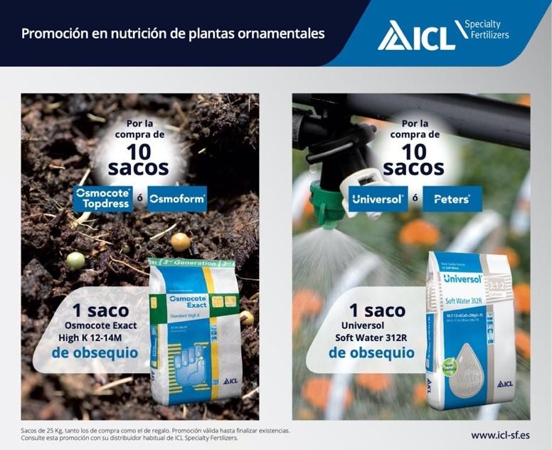 Promoción de ICL en nutrición de plantas ornamentales: Osmocote Exact y Universol